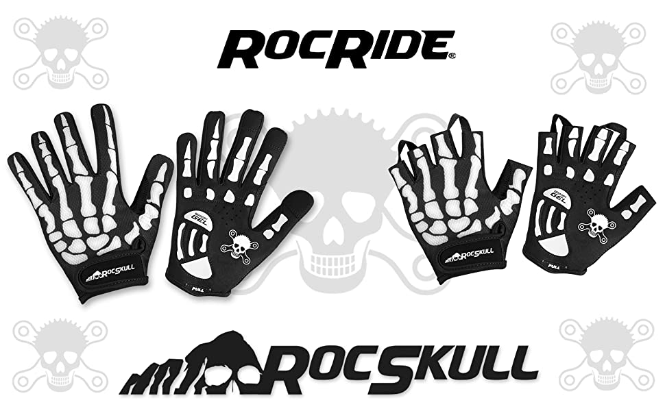 rocride rocskull padded cycling gloves banner