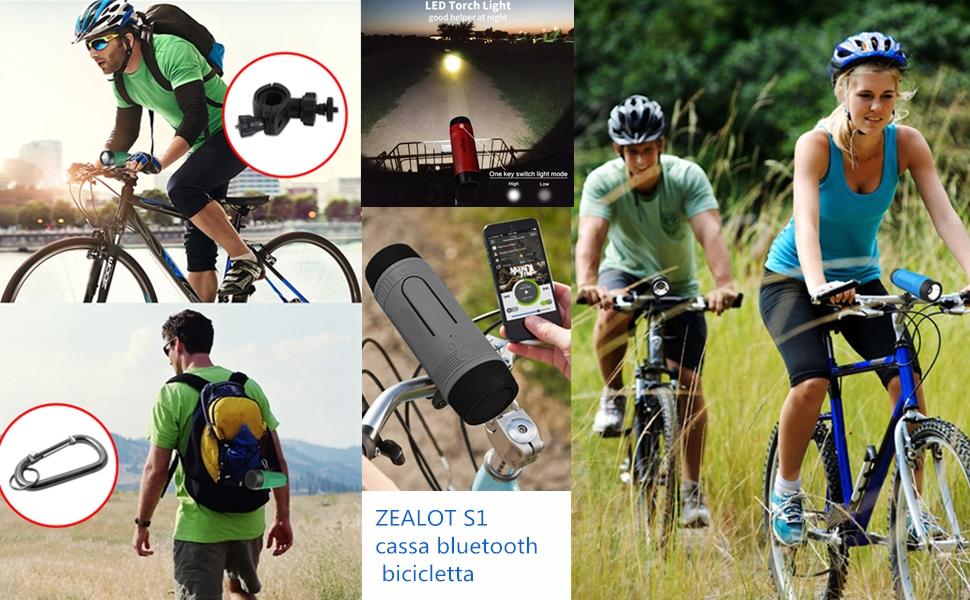 cassa bluetooth bicicletta