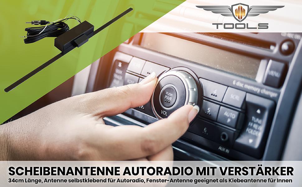 W Mtools Scheibenantenne Autoradio Mit Verstärker Elektronik