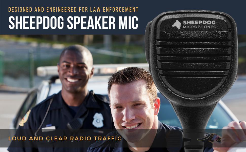 Sheepdog Police Lapel Microphone Mic Earpiece Headset Quick Release Disconnect Tube Earmold Earphone