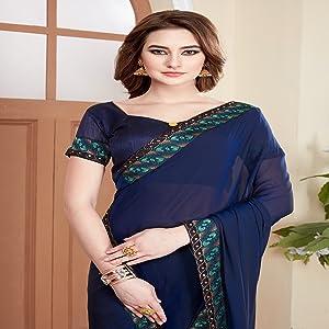 Fancy Art Silk Georgette Sari for Women new sari for womens fancy sarees for under 500 latest design