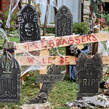 halloween yard tombstone