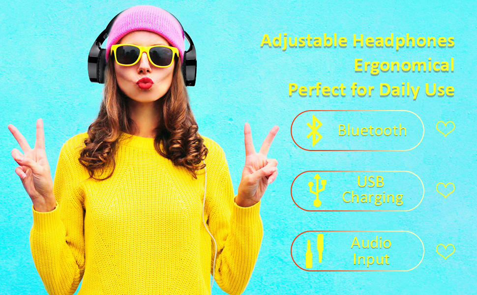 Bluetooth Headphones with Touch Control_1