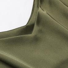V-neck silk tops