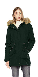 Royal Matrix Mens Outerwear Down Filled Hooded Matte Shell Parka Jacket with Removable Faux Fur