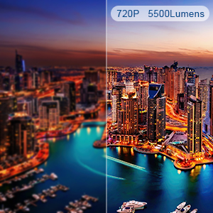 Videoproiettore wifi HD 720P