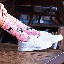 MeMoi Women Novelty Socks Dogs