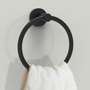 hand towel ring black towel holder black towel set bath towel ring