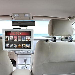ヘッドレスト取付式 後部座席 オーディオ用車載ホルダー