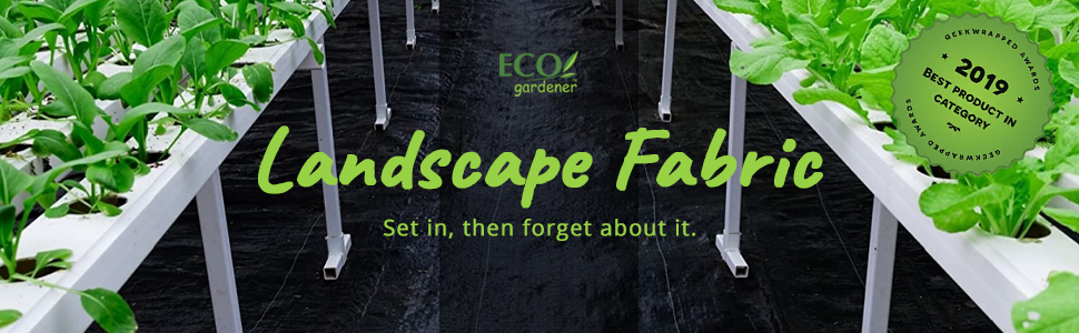 landscape fabric, weed barrier,  gardening solution