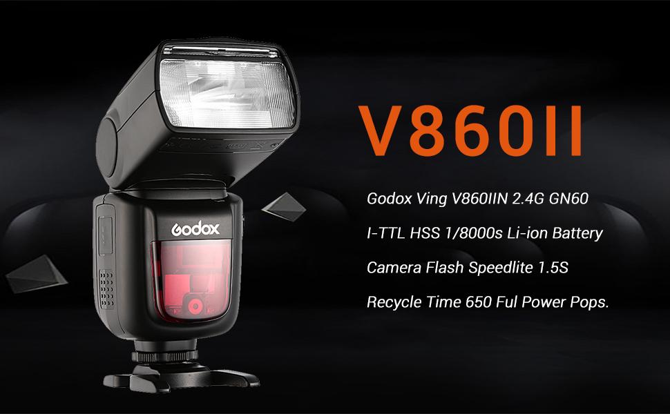 Godox V860 II Flash da Slitta con Batteria a Litio per Nikon