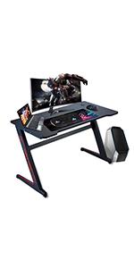 RGB gaming desk computer desk office desk ferghana gaming desk