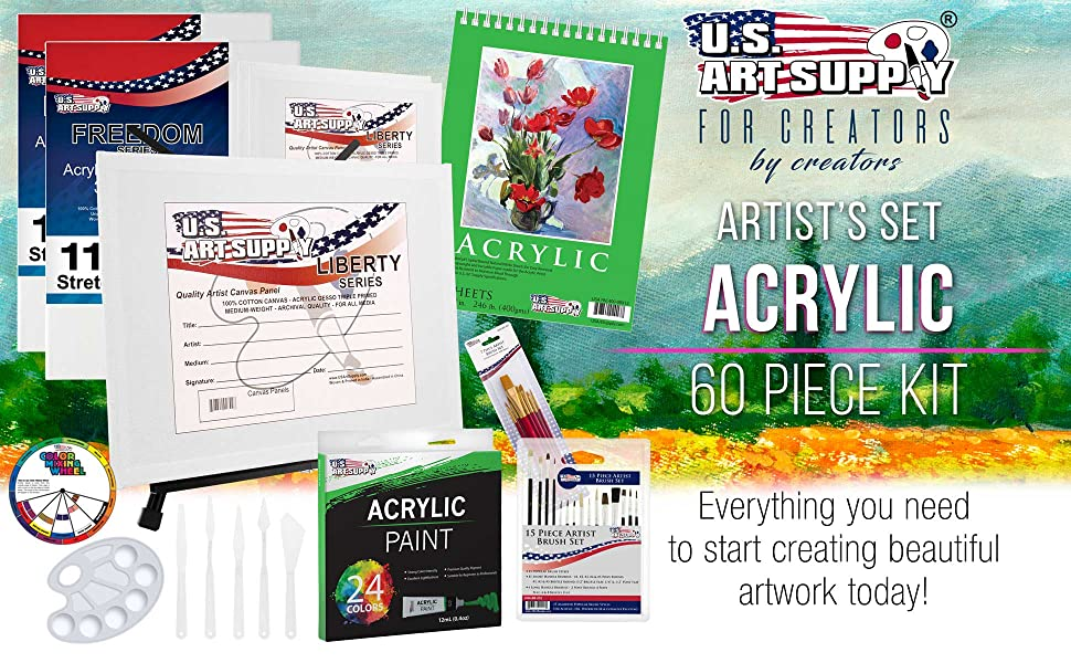 Artist Set Acrylic 60 Piece Kit