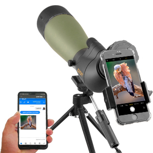 spotting scope with phone adapter