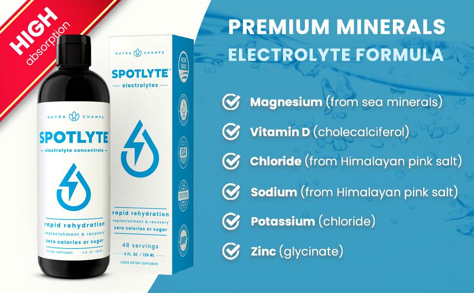 sugar free liquid electrolyte supplement