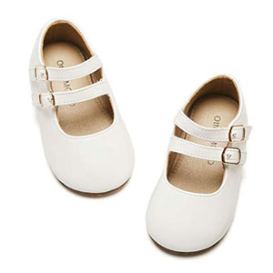 Otter MOMO Toddler Girls Ballet Flats Mary Jane Dress Shoes with Bow Knot