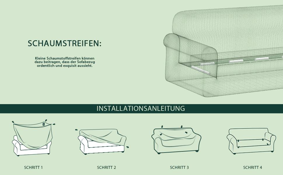Beige 2-Sitzer Sofabezug