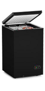 3.5 Cu Ft Black Chest Freezer