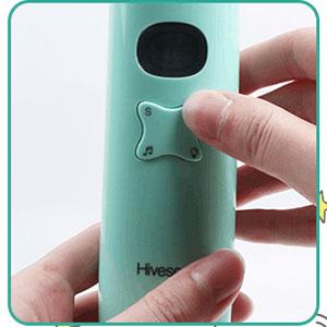 Hiveseen Aspirador Nasal Bebes Electrico con Música y Pantalla LCD, Batería Operado, 3 Niveles de Succión, 2 Tamaños Puntas de Silicona para Recién Nacidos,Niños Pequeños y Infantil: Amazon.es: Bebé