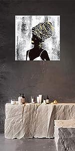 African Woman Wall Art