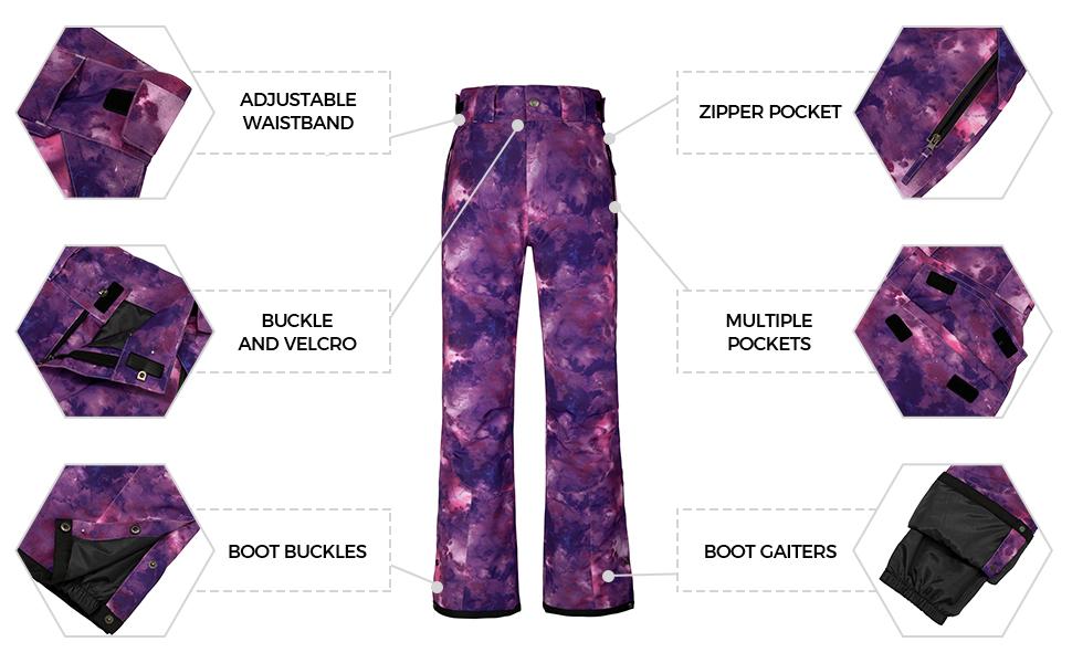 Wantdo Men's Winter Insulated Ski Pants