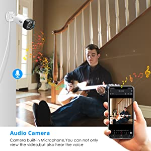 85  【Two Way Audio】Hiseeu Wireless Security Camera System,1TB Hard Drive,4Pcs 1080P Cameras 8Channel NVR,Mobile&PC Remote,Outdoor IP66 Waterproof,Night Vision,Motion Alert,Plug&Play,7/24/Motion Record 8f32182b 3edc 4310 89f9 a8e415bed666
