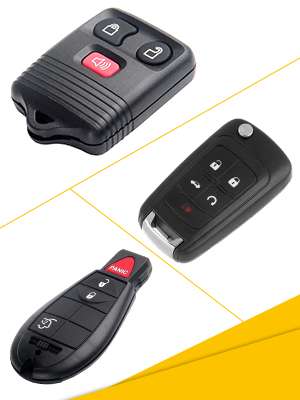 Aintier Smart Key Keyless Entry Remote Compatible for 08-10 Volvo S80 01-09 11-16 Volvo S60 Pilot Key Fob Replacement for LQNP2T-APU-5 2X Key Fob Case