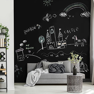 EXCELLENT WRITING & DRY ERASE PERFORMANCE CHALKBOARD FOR WALL