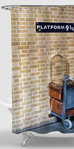 London King's Cross Station Platform 9 3/4 Shower Curtain