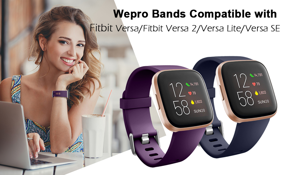 Wepro 6 Pack Bands Compatiable with Fitbit Versa 2 / Fitbit Versa/Versa Lite/Versa SE
