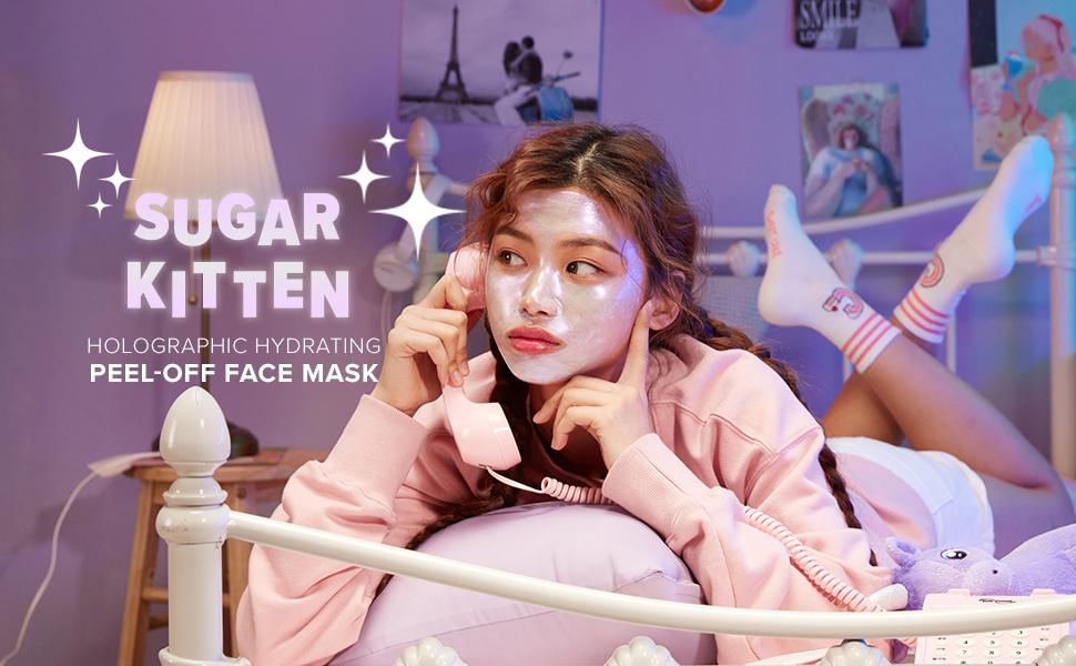 i dew care, sugar kitten, peel-off face mask, korean skin care, sugar kitten mask