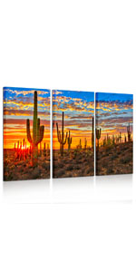 sunrise wall pictures nature art prints Botanical Cactus Picture Print on Canvas kitchen wall decor