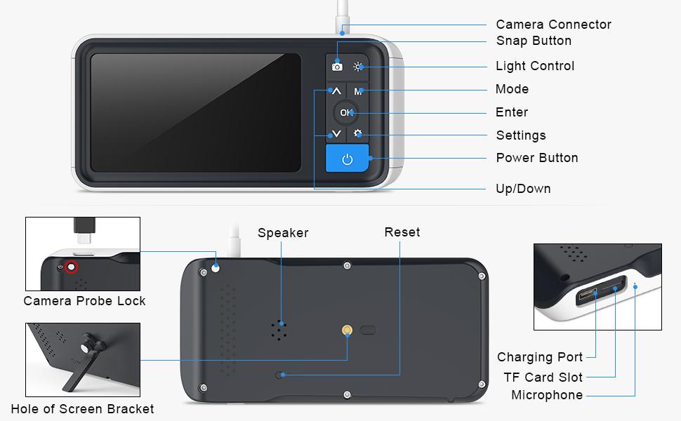 otoscope with screen