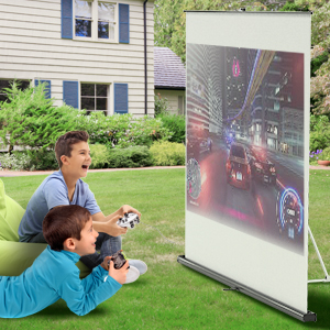 Projector Screen with Stand for gaming cinema movie cartoon presentation outdoor and indoor usage