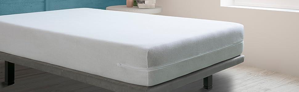 Tural – Funda de colchón elástica con Cremallera. Rizo 100 ...