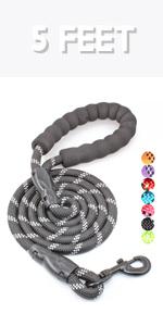 5 feet dog leash