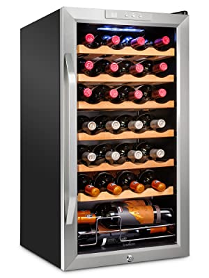 Ivation 18 bottle wine cooler with lock
