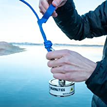 magnet fishing double sided rope gloves magnets magnetic treasure pond lake 1200 lb 1000 kit