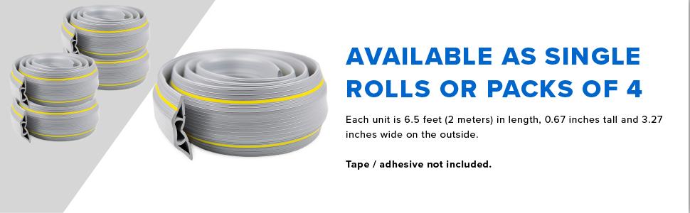 rolls or packs of 4