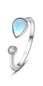 adjustable moonstone  ring