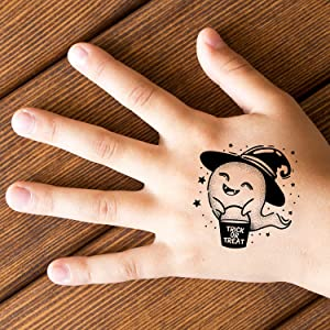 kids ghost halloween temporary tattoo hands girls body children fun temp tatoo