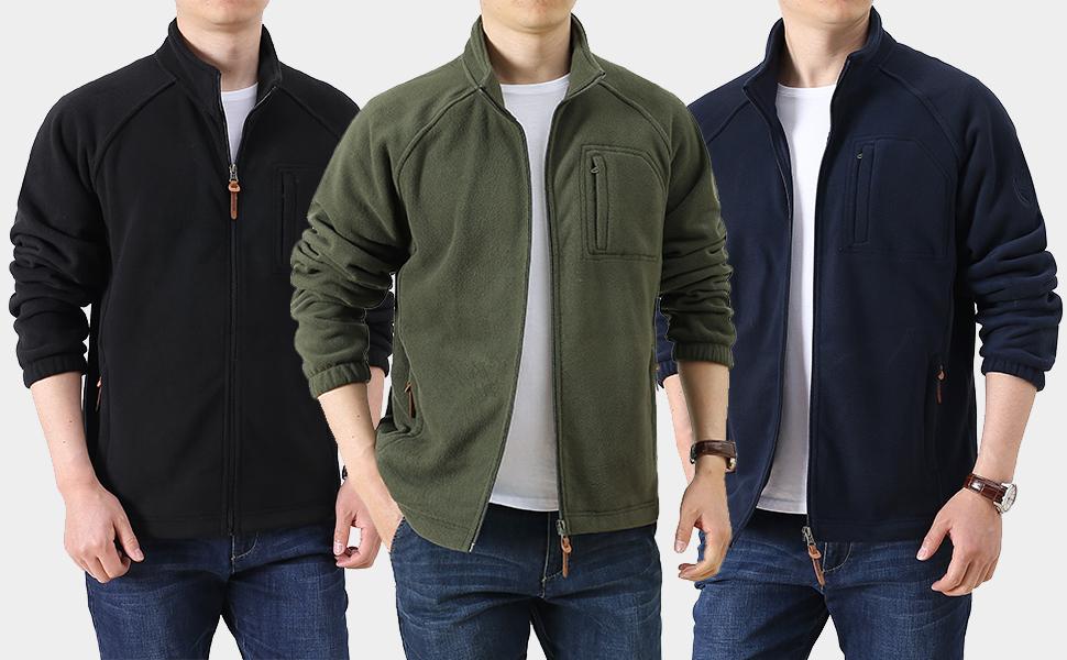 Men's Soft Polar Fleece Winter Outdoor Coat with Pockets