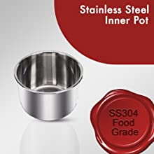 stainless steel cooking inner pot ss304 food grade material best electric pressure cooker