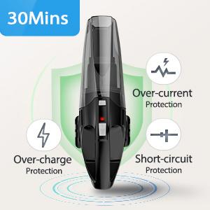 holife handheld vacuum cleaner cordless lightweight hoover powerful wet dry recharge HEPA wall mount