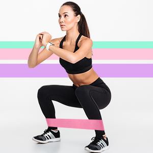 Hykes Anti Slip Fabric Resistance Loop Bands Women Hips Legs Yoga Workout Monster Walk CrossFit Gym