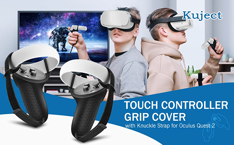 Touch Controller Grip Cover for Oculus Quest 2 Premium Gel Shell Silicone Grip Protection Covers Skin Blue