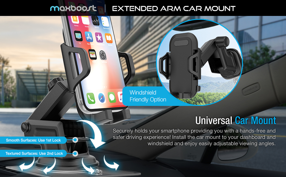 Maxboost Durahold car mount phone holder