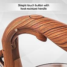 Simple touch button cool handle easy pour spout