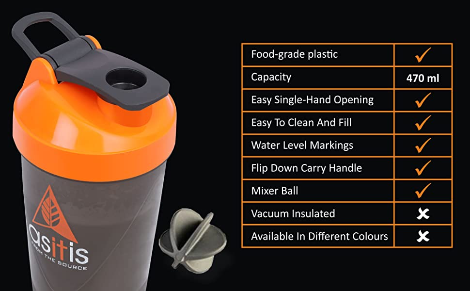 MIXER BALL WITH SCOOP AND CONVENIENT HANDLE
