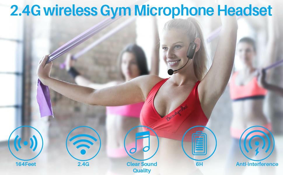 long range wirless microphone headset